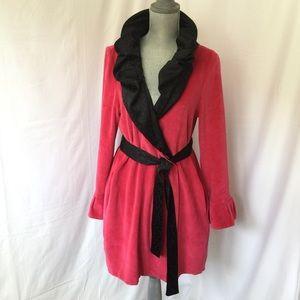 Glamorous Betsey Johnson Velour &  Satin robe M EC